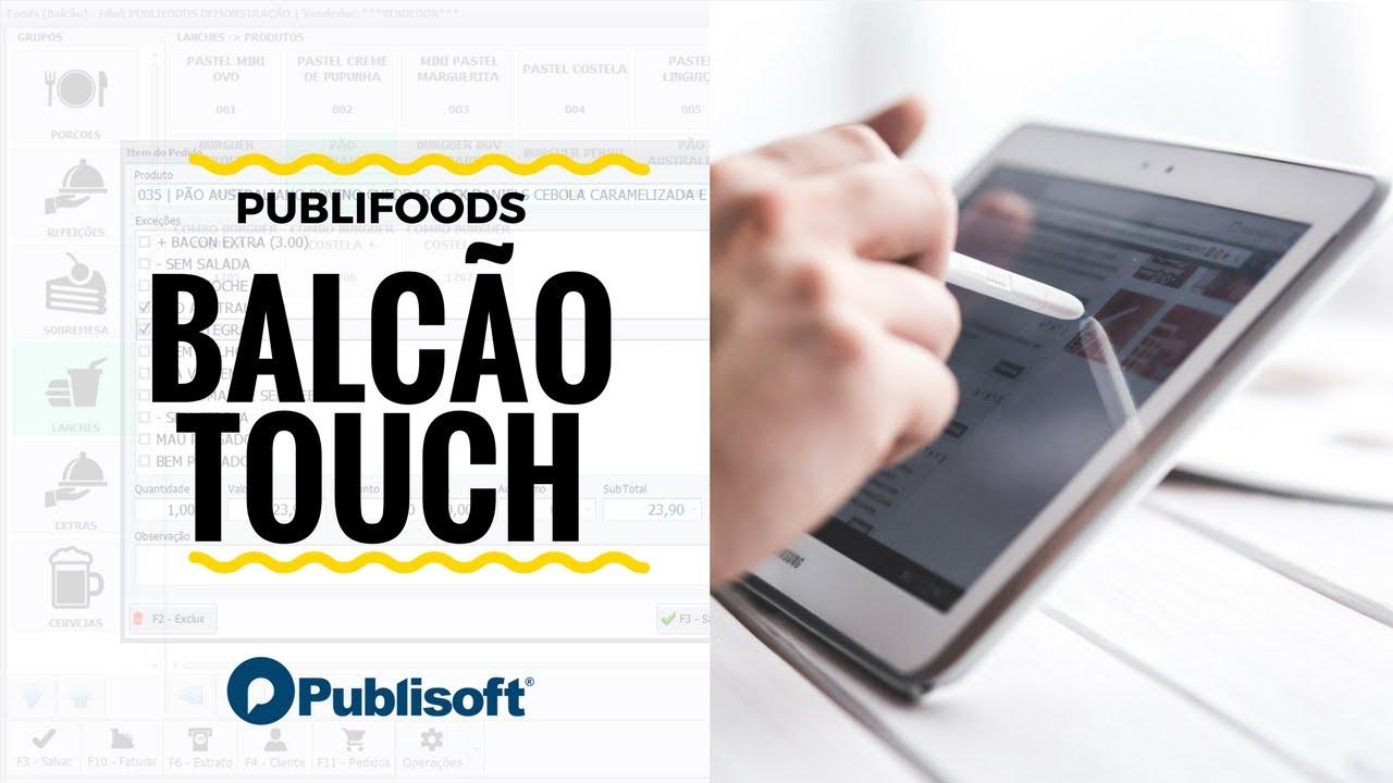 Balcão Touch (Restaurantes, lanchonetes e similares)