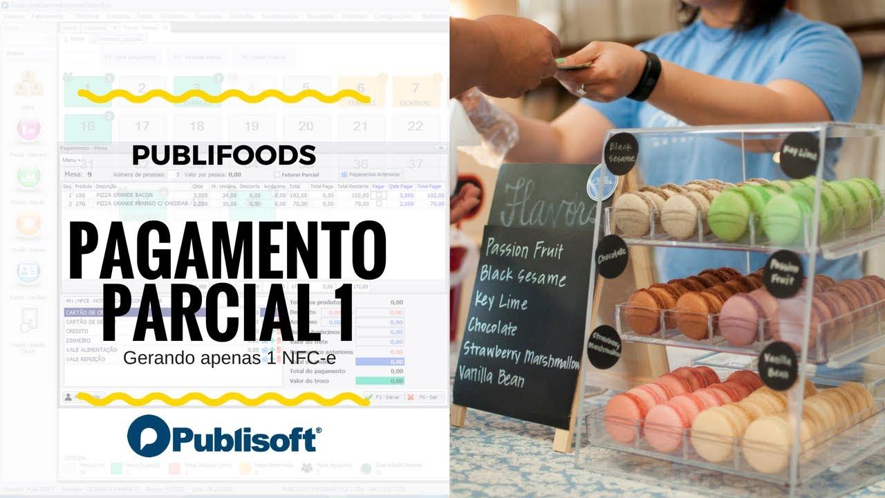 Pagamento Parcial - NFC-e geral (Restaurantes, lanchonetes e similares)